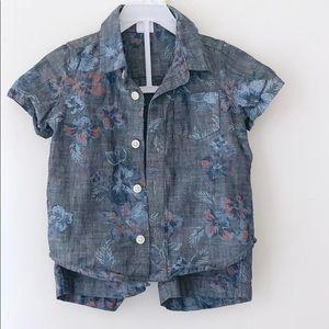 🛍 Gap Toddler Boys 2 Piece Shirt and Shorts Set